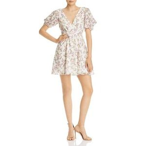 Fame and Partners Longina Floral Print Mini Dress